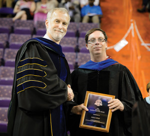 Provost Jones with Professor Jack G. Wolf